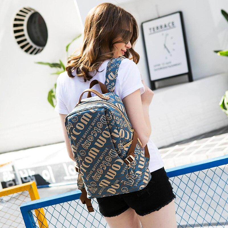 direta jacquard mochila feminina-saco sacos de escola