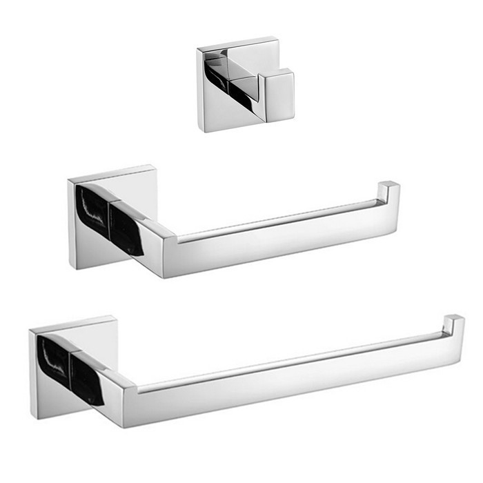 все цены на Mirror Finish  304 Stainless Steel Material Chrome Paper Holder,Robe Hook,Towel ring towel rack clothes hook