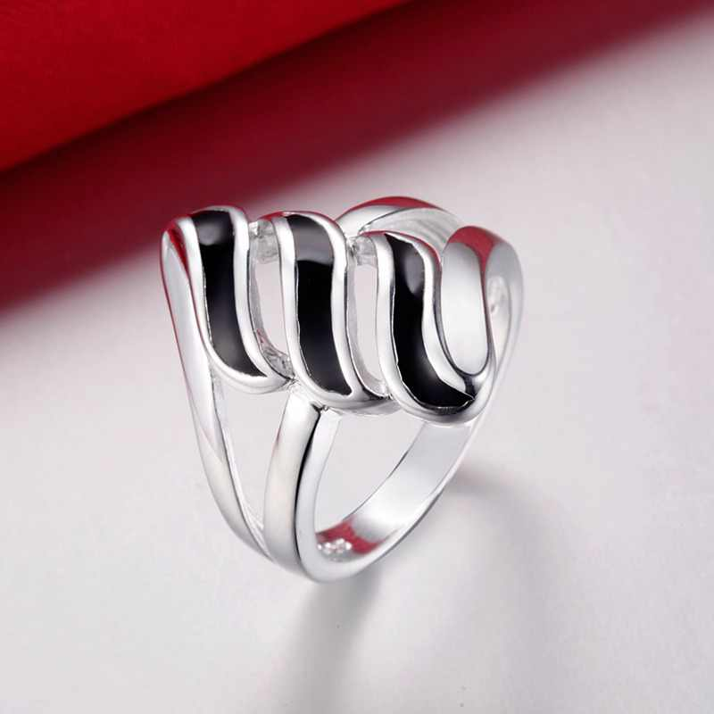 New Arrilval Concise Design Ring Creative Geometric Silver Ring For Women Men AR176 AR178