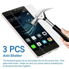 3pcs/Lot 9H Tempered Glass For Huawei P30 P20 Pro P10 P9 P8 Lite Plus 2017 2015 Explosion Proof Screen Protector Film(China)