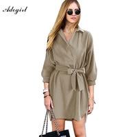 Adogirlレディースオフィスドレス2017新しいファッションプラスサイズ2xl女