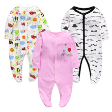 Baby Boy Girl Footies Pajamas Original Cotton Spring Sleepwear 1piece Pja Mother Nest Animal Christmas Coverall baby'sets 1pcs winter jumpsuit hip hop monkey animal shapes conjoined baby coverall pile thickness footies n06