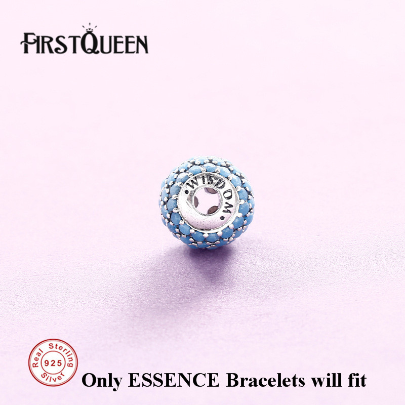 FirstQueen Solid Silver 925 Wisdom Charms Beads Fit Essence Sterling Silver 925 Bracelets DIY For Jewery Making Fine Jewelry