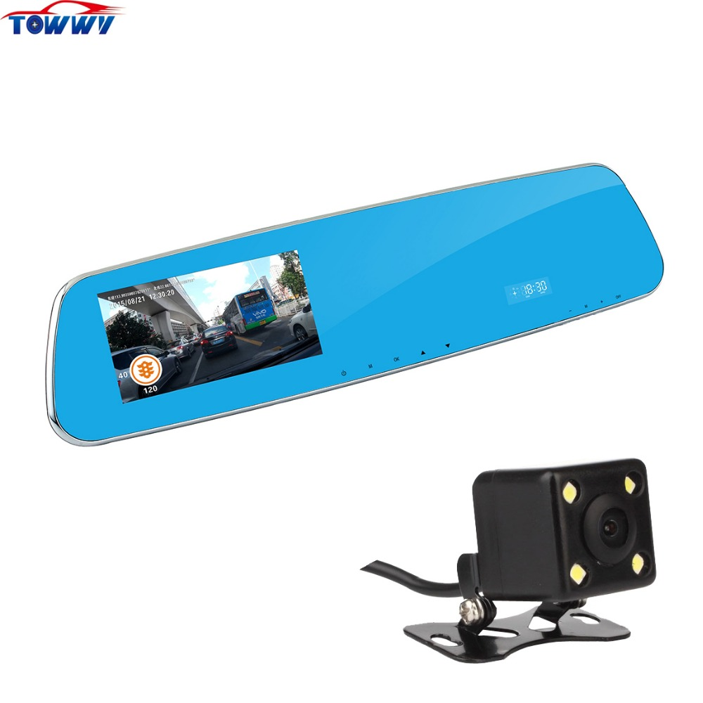 OE905A FHD 4.3 inch Bluetooth Car DVR Lens Camera With Anti-glare Double Screen Display and Built-in Radar le 40tl1600 motherboard t ms18vg 81b 11467 with screen tx4a24 fhd