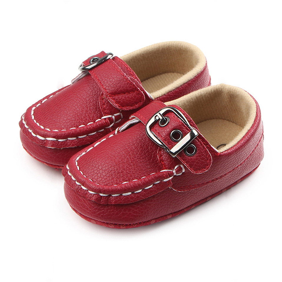Baby Shoes Fashion Footwear Baby Boy Girl First Walker For Newborn Spring Autumn PU Leather Soft Soles Anti-Slip Infant Toddler