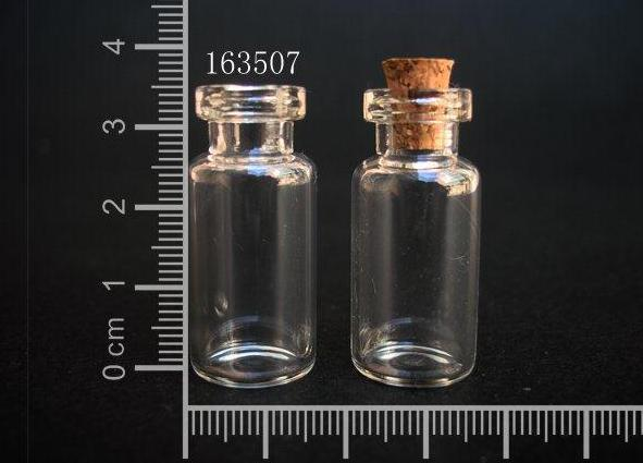 50 pcs 2ml 16x35mm Small Clear Glass Bottle Vial Pendant With Cork and Hook For Wedding Holiday Decoration Christmas Gifts