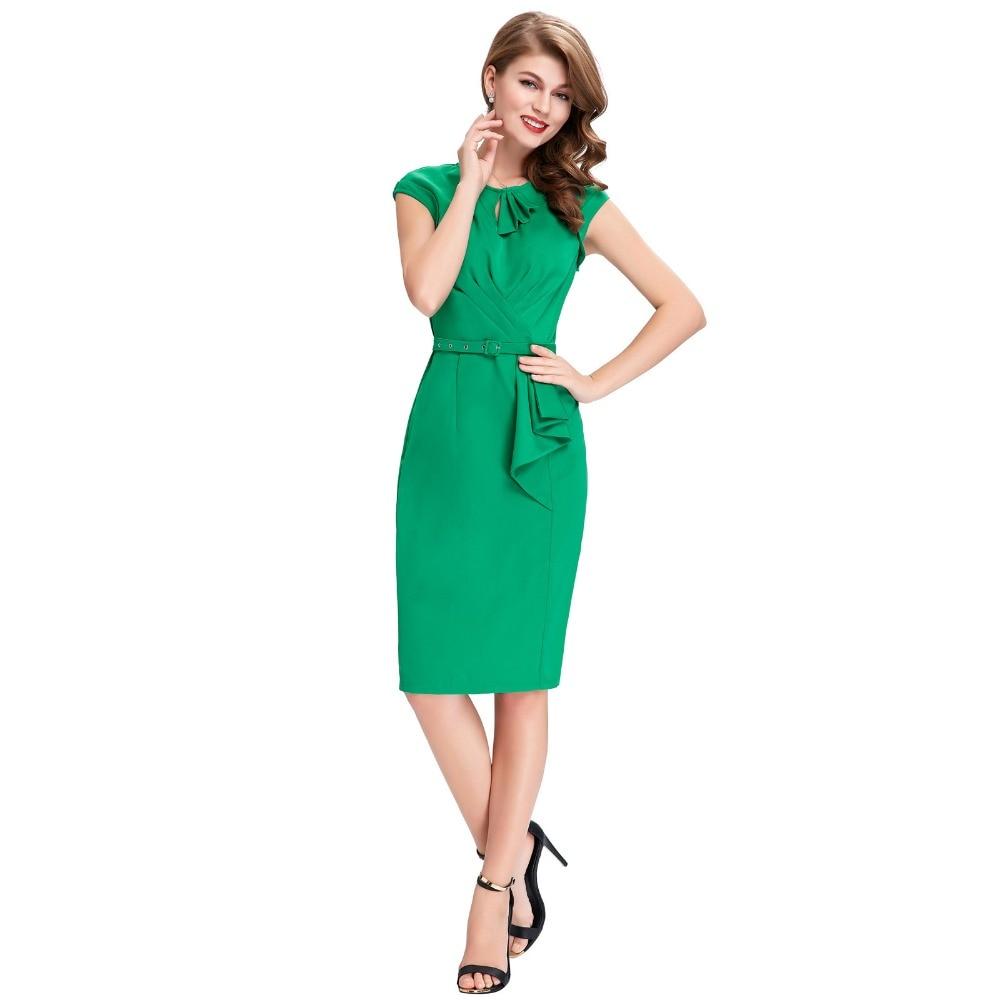 Business Teal Dresses