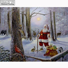 100% полный diy алмазная живопись вышивка крестиком Санта Клаус