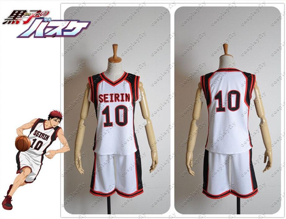Kuroko no Basuke Kuroko Kagami Taiga Cosplay Costume Jersey Outfit Clothing TOP+SHORTS C0271 (Number can be changed)