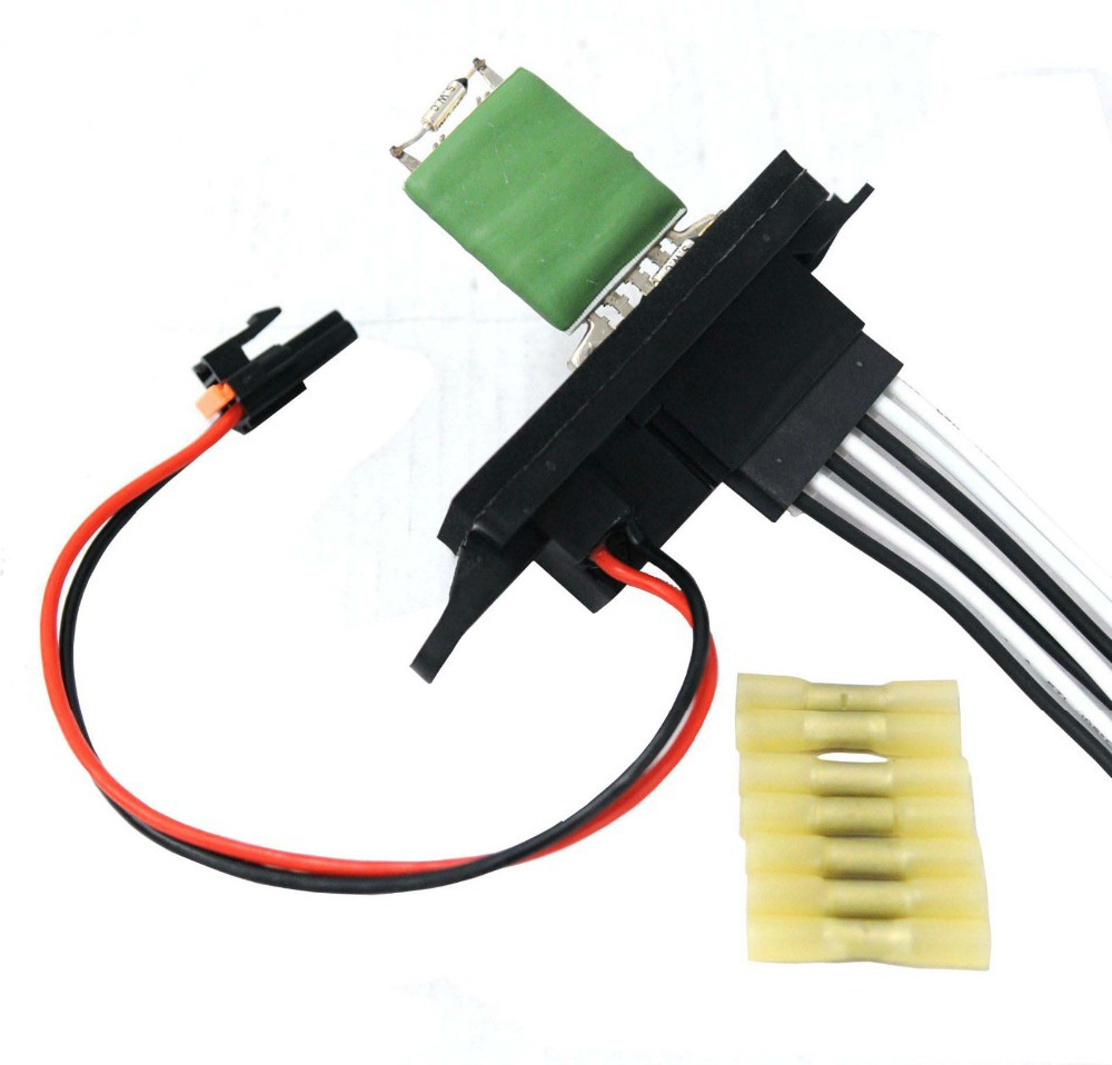 small resolution of e2c heater ac blower motor resistor w plug pigtail for chevy gmc pickup truck