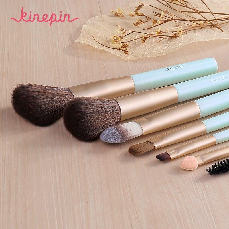 KINEPIN Marca Compacto 7 pcs Pincéis de Maquiagem Conjunto Kit de Viagem  Essencial Portátil PU Estúdio Escova Titular Copo De Couro Tubo Recipiente  em ... 9b7168bbdc