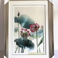 Handmade suzhou embroidered lotus boutique embroidery crafts painting
