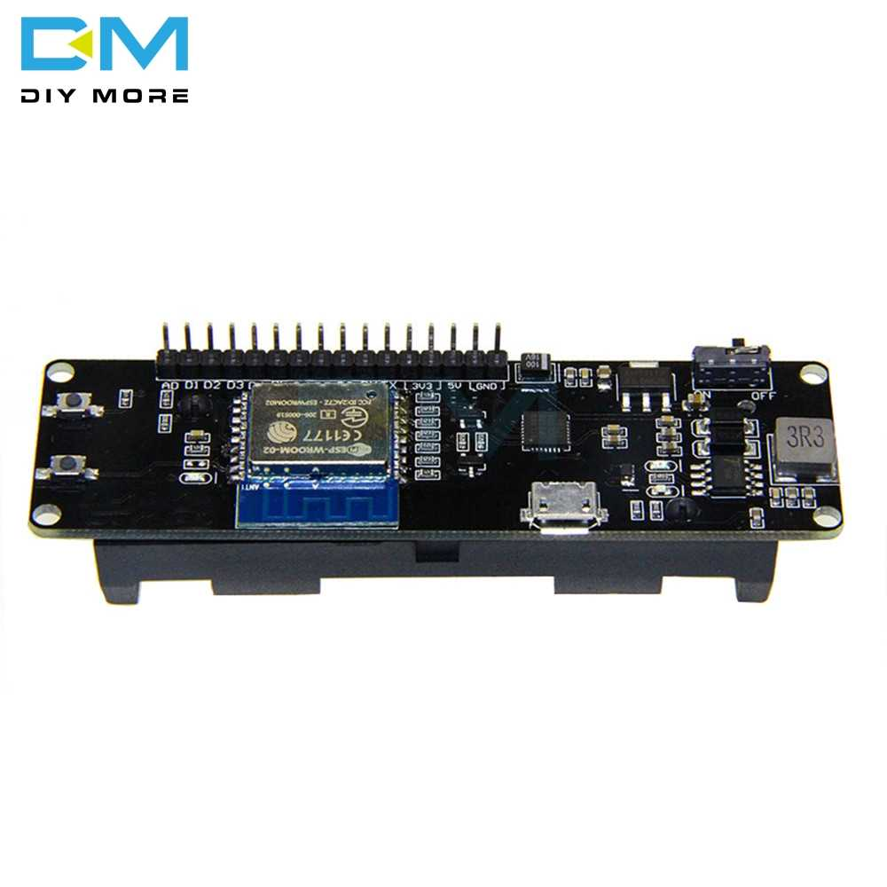 For WeMos D1 ESP-Wroom-02 Mother Board ESP8266 Mini WiFi Nodemcu Module 18650 Charging Battery Development Board Nodemcu PWM I2C