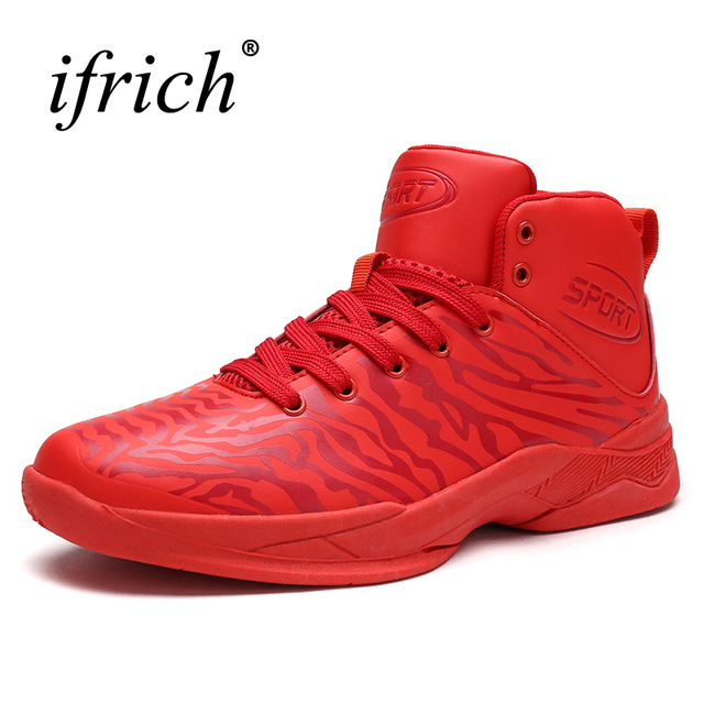 8a51bd1313a3d1 2019 Hot Sell Mens Basketball Sneakers Black Red High Top Training Shoes Men  Gym Boots Breathable Sport Trainers Men