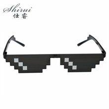 SHIRUI 2018 Deal With It Thug Life Glasses 8 bits Sunglasses Eyewear Women Men Dealwithit Popular Around the World