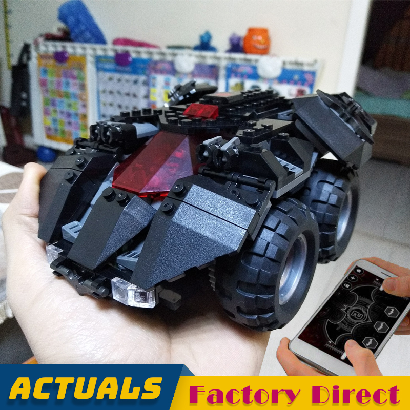 App-Controlled Motorized Batmobile 07111 DC Super Heroes Building Blocks Vehicle Car Motor Brick Boy Toy Compatible Legoed 76112