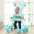 Ayuda andador bebé cochecito de bebé anti-vuelco multifunción música coche de pedales