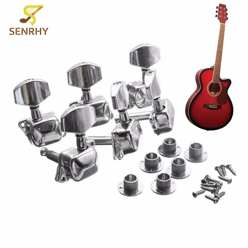 Hot 6PCS 6L Metal Acoustic Guitar String Semiclosed Tuning Pegs Tuners Guitar Tuning Peg Machine Heads Tuners gold guitar locking tuners electric guitar machine heads tuners jn 07sp lock tuning pegs with packaging