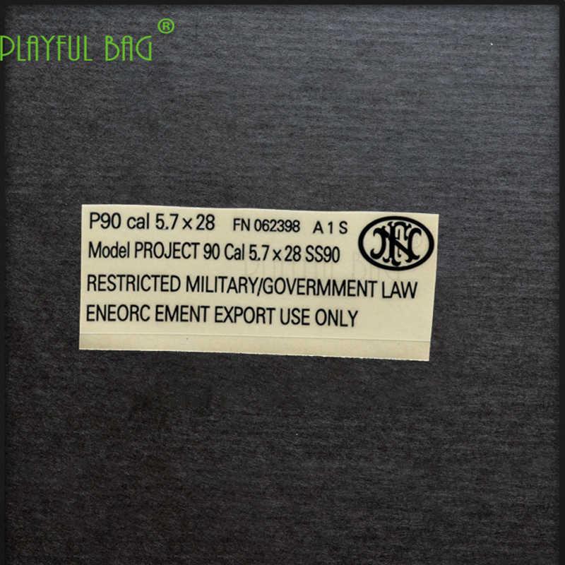 Atividades ao ar livre CS P90 gel arma bomba de água à prova d' água de metal DIY adesivo de M4 Jin Ming cicatriz HK416 Le Hui AK74 L21
