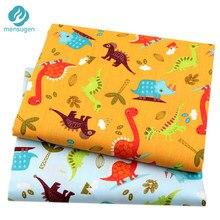 Tecido de dinossauro, lençol de algodão para crianças, almofadas, costura, pano