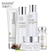 Здесь можно купить   BAIMISS Snail Serum Repairing Face Cream Skin Care Sets Whitening Acne Treatment Balck Head Remover Facial Night Cream 5pcs Skin Care