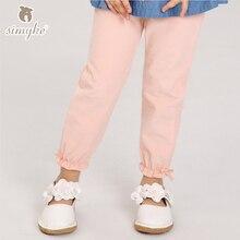 Simyke Filles Casual Pantalon Pantalon Rose Pour Petite Fille 2017 Nouveau Enfants Automne Pantalon En Velours Côtelé Enfant Bébé Filles Vêtements D6096