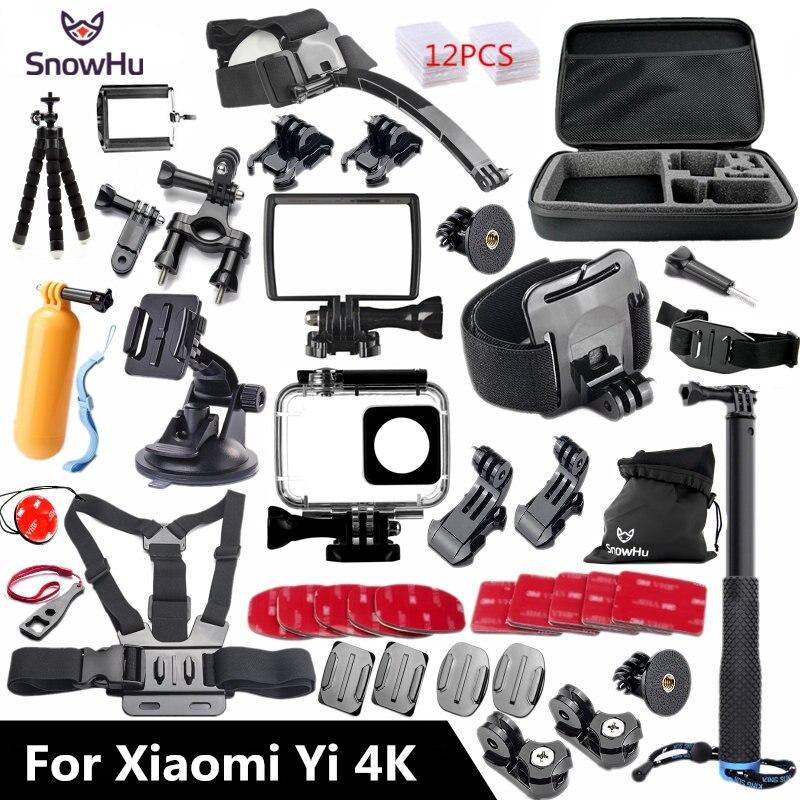 SnowHu Para Xiaomi Yi 4 K Acessórios Vara Monopé Tripé Polvo para Xiaomi Yi 4 K/4 K + Lite Câmera Ação Internacional 2 II GS27