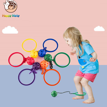 Indoor and Outdoor Sports Jump Ball Fitness Weight Loss Ball Jumping Rotating Ring Child Single Leg Dump Ball kids flashing jump ring glowing jumping ball indoor outdoor adults foot spinner fun toy