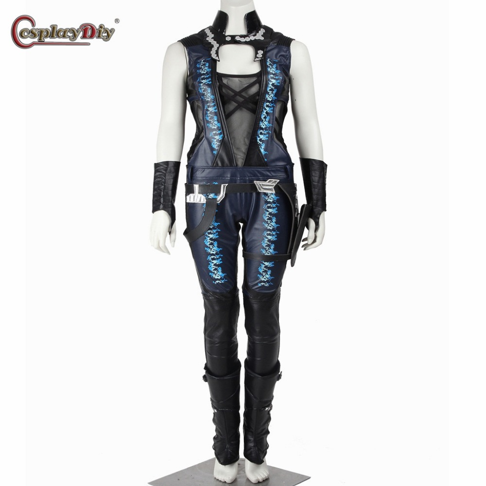 Cosplaydiy Guardians of The Galaxy Superher Gamora Cosplay Costume For Adult Women Halloween Carnival Party Custom Made D0421