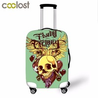 Cool Punk Death Skull 3D Print Luggage Protective Covers For Travel 18 28 Inch Suitcase Cover