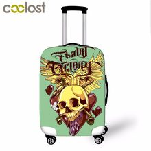 18-28 Inch Skull Luggage Protective Covers 3D Cool Punk Women Suitcase Cover Elastic Dust Trolley Case Cover Voyages Accessoires(China)