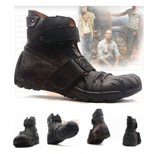Skull motorcycle boots Punk knight boots Western cowboy Boots Fashion Mid-Calf Boots Men Martin boots Black Casual Boots boots bronx boots