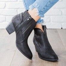 купить HEFLASHOR 2019 New Fashion Spring Autumn Platform Ankle Boots Women 12cm Thick Heel Platform Boots Ladies Worker Boots Black по цене 436.38 рублей