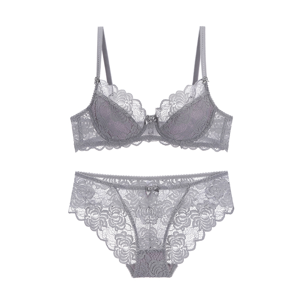 e6f624a30 Pretty Mary Women Lace Bra and Panties Sets See Though Thin Bra Very Sexy  Lingerie Plunge Underwear A B C D Cup Plus Size-in Bra   Brief Sets from  Underwear ...