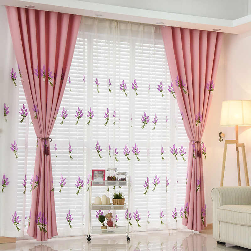 Lavender Embroidered Tulles And Curtains For Living The Bedroom