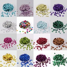 360pcs/Lot 8mm Cup Round Loose Sequins Paillettes Sewing Craft Silver-based Sequin For Crafts 20 Colors Available Free Shipping