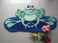 New frog carpet, green cool feeling mats , non slip mats children's bedroom