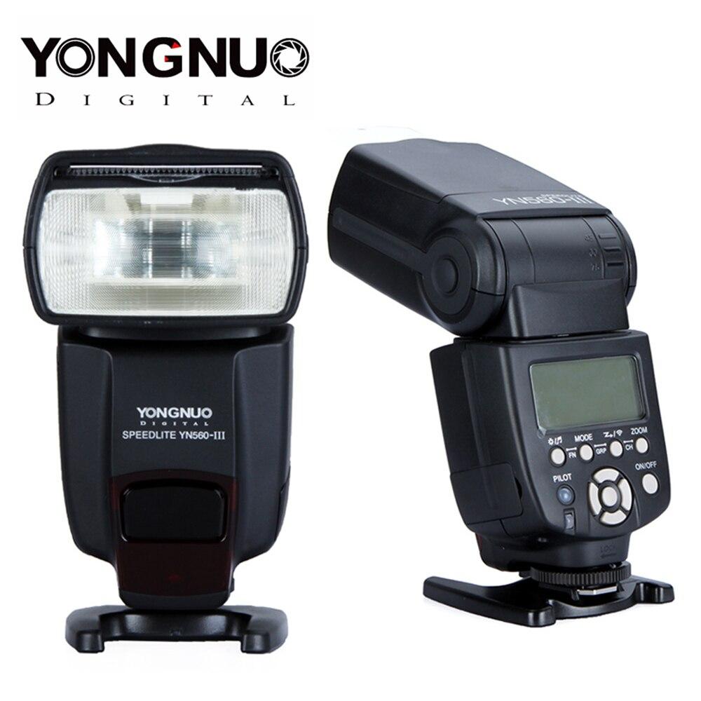 YONGNUO YN560III YN560 III YN560 III Wireless Flash Speedlite For Canon Nikon Olympus Pentax Camera Flashlight-in Flashes from Consumer Electronics    1