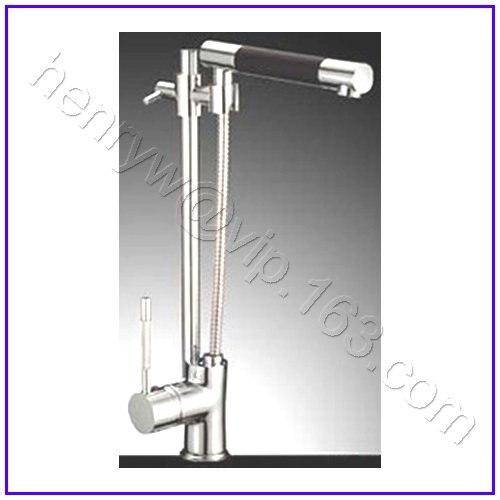 L16123-роскошный бортике хром Цвет вытащить спрей Кухня водопроводной воды