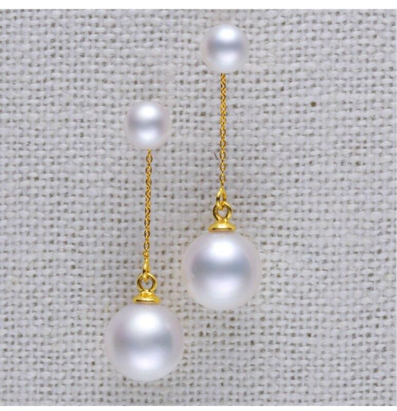 gold freshwater pearl earrings jewelry 99