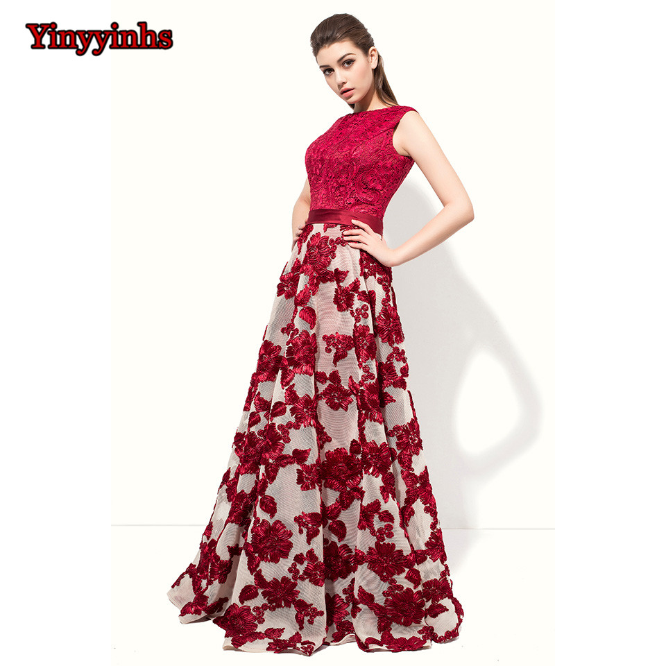 Yinyyinhs i lager En Line Corset Vintage Prom Dress Formell Sidan Floor Length Evening Dress Långsidig Party Dress CG32