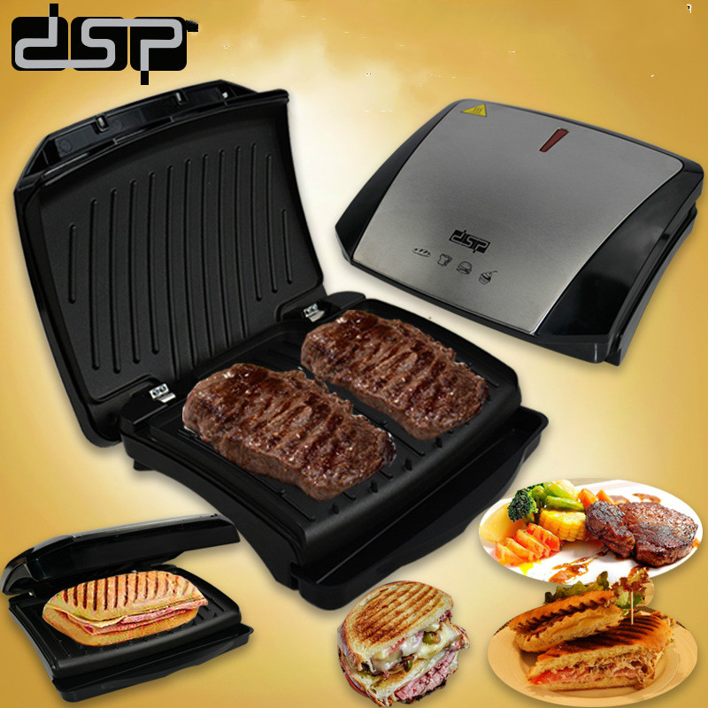 220V Multifunctional Electric Crepe Machine Steak Grill Plate Non-stick Household Pancake Maker Auto-Off Double Heating 2 pc 220v crepe machinist grasp bread machine single head electric heating circle non stick pancake machine