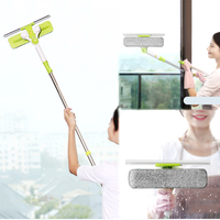 Hot Upgraded Telescopic High Rise Window Cleaning Glass Cleaner Brush For Washing Window Dust Brush Clean