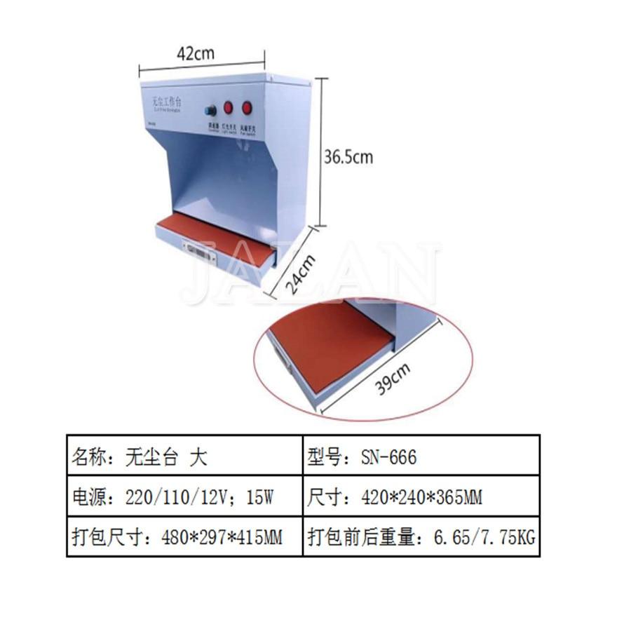 Pièce sans poussière avec lumière pour iphone samsung HUAWEI lcd réparation nettoyage salle de poussière peut réglable avec fonction de contrôle de la poussière utilisation - 3