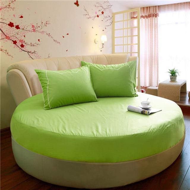 100 coton lit rond couverture double volants couvre lit 220x240 cm