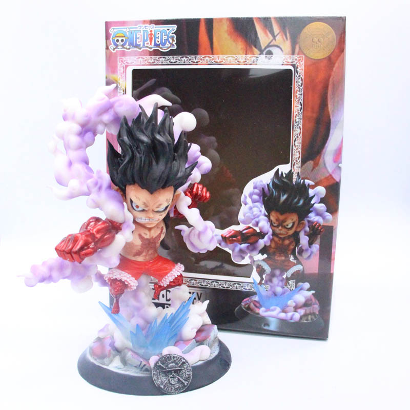 26cm Anime One Piece GK Snake Man Gear Fourth Monkey D Luffy  Action Figure Collection Models Toys