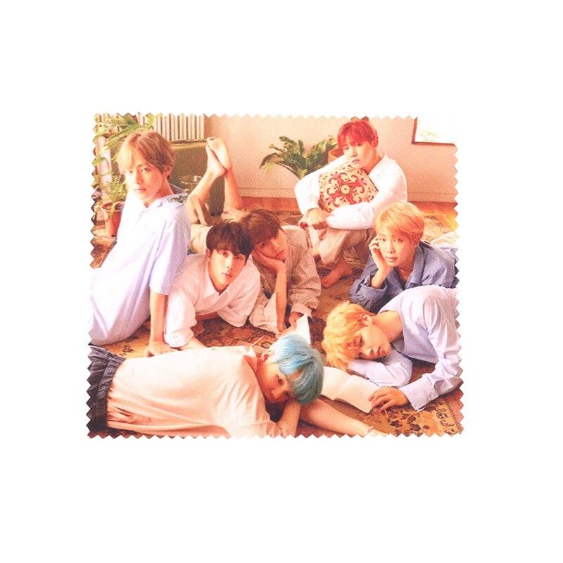 New kpop BTS Bangtan Boys glasses cloth wipe the phone screen
