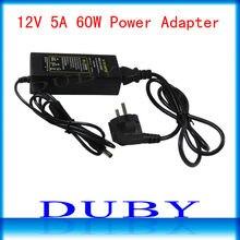 20 teile/los 12V5A Neue AC 100 V-240 V Converter power Adapter DC 12 V 5A Netzteil EU/US/Uk-stecker DC Freies Fedex