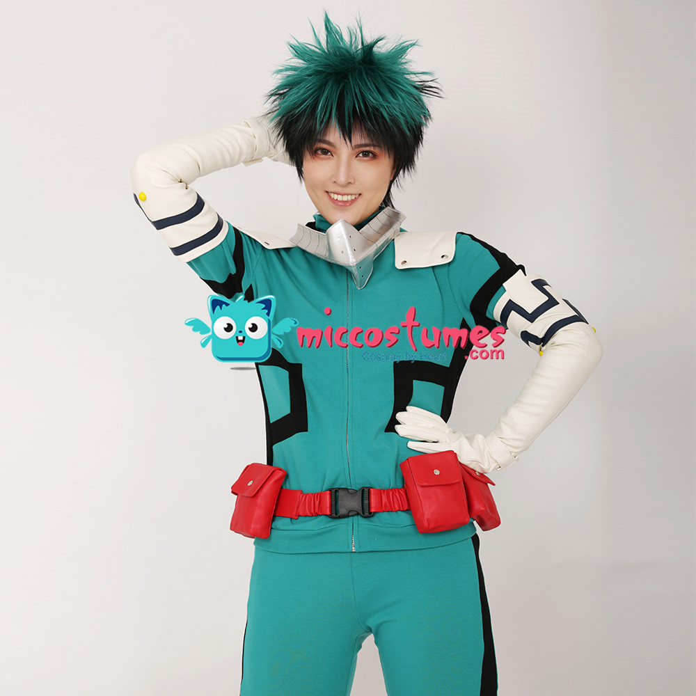 My Hero Academia Midoriya Izuku Deku Cosplay Costume Fighting Suit