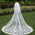 Sequiend Appliques 2 Meters Wedding Veils Long three Layer Wedding Veil With Comb Ivory White Elegant Wedding Accessories